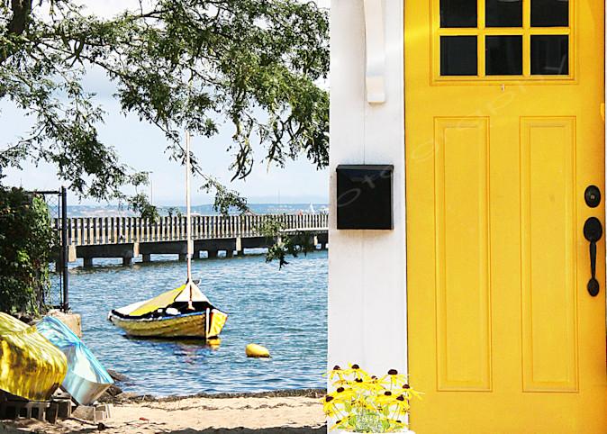 Yellow Door and Boat