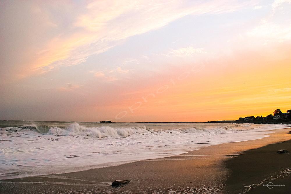 Calm sunset at the beach.