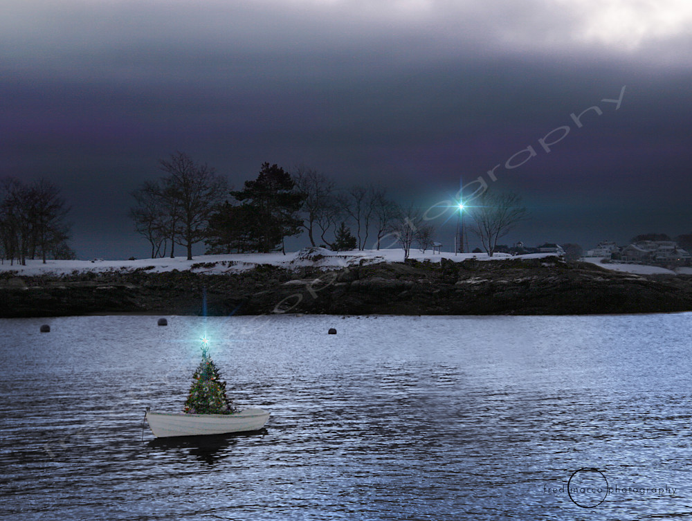 Dinghy and Lighthouse