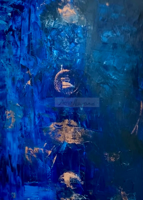 Abstract Blue 7 Secrets Print