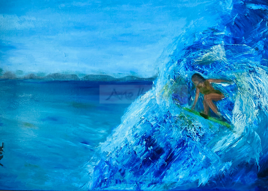 Wahine Surfer Fine-Art Print