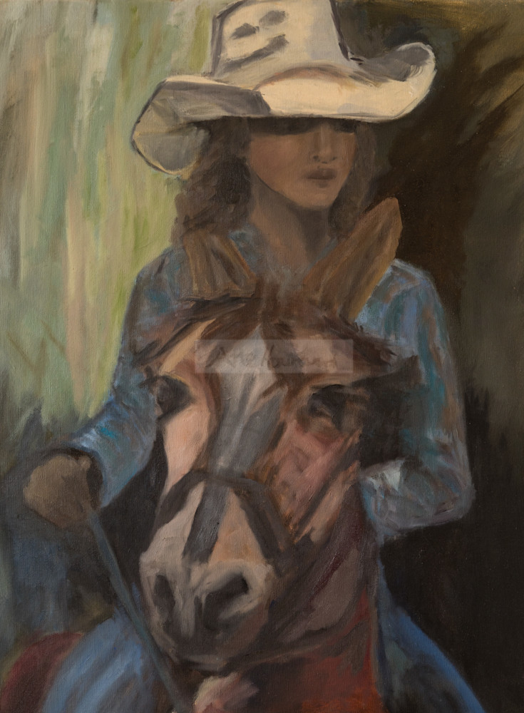 Close up of Cowgirl on her Horse