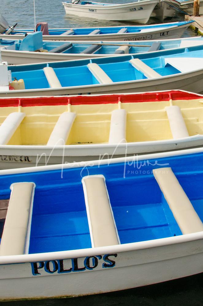 Colorful boats Magdalena Bay