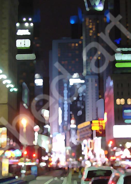 new york times square night lights
