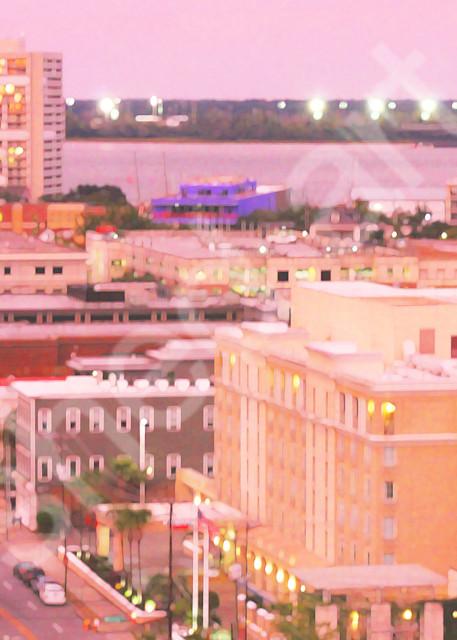 charleston pink dusk city scape calhoun street