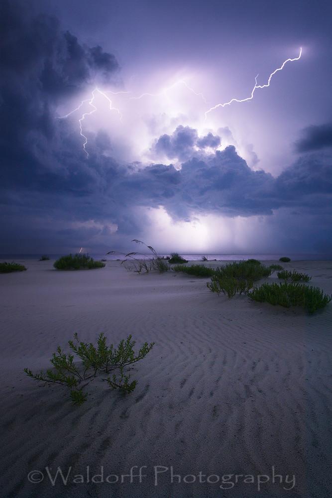 Lightning Storms Near Navarre Beach