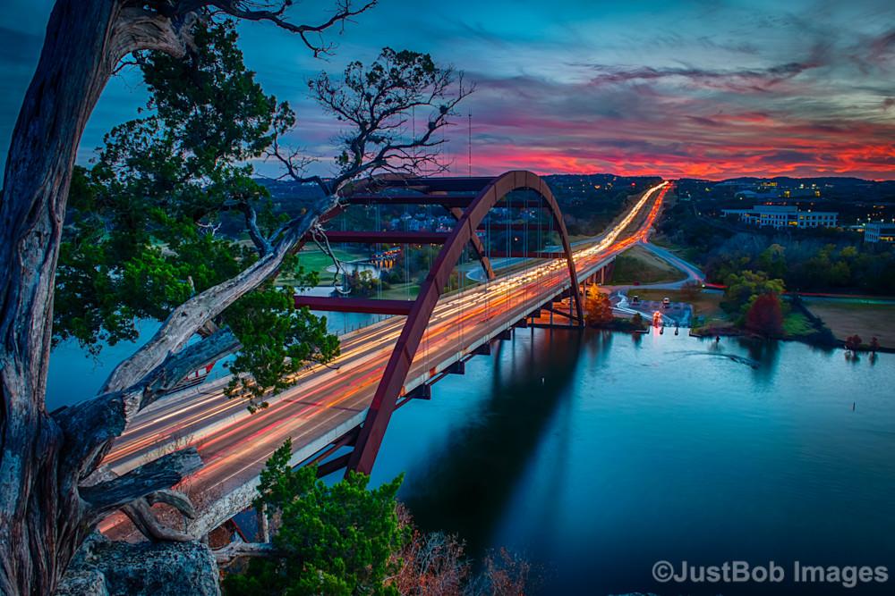 Sunset from Pennybacker Bridge Fine Art Photograph | JustBob Images