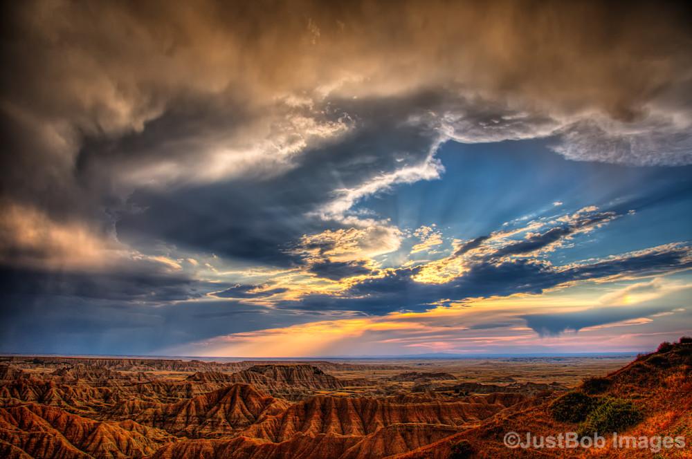 Badlands after Storm Fine Art Photograph   JustBob Images