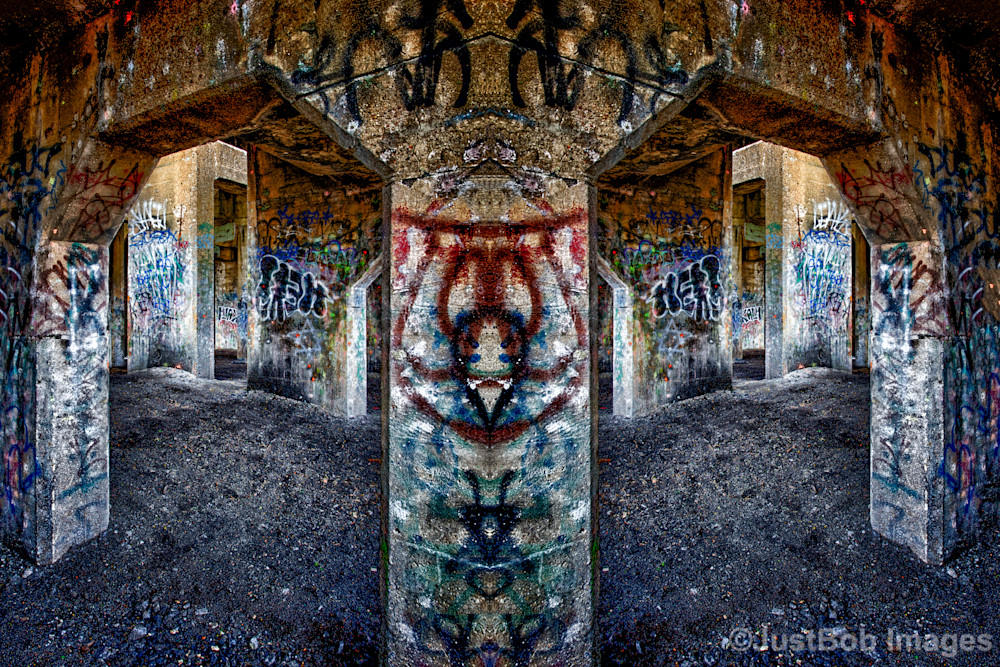 Graffiti Underground At An Angle Fine Art Photograph   JustBob Images