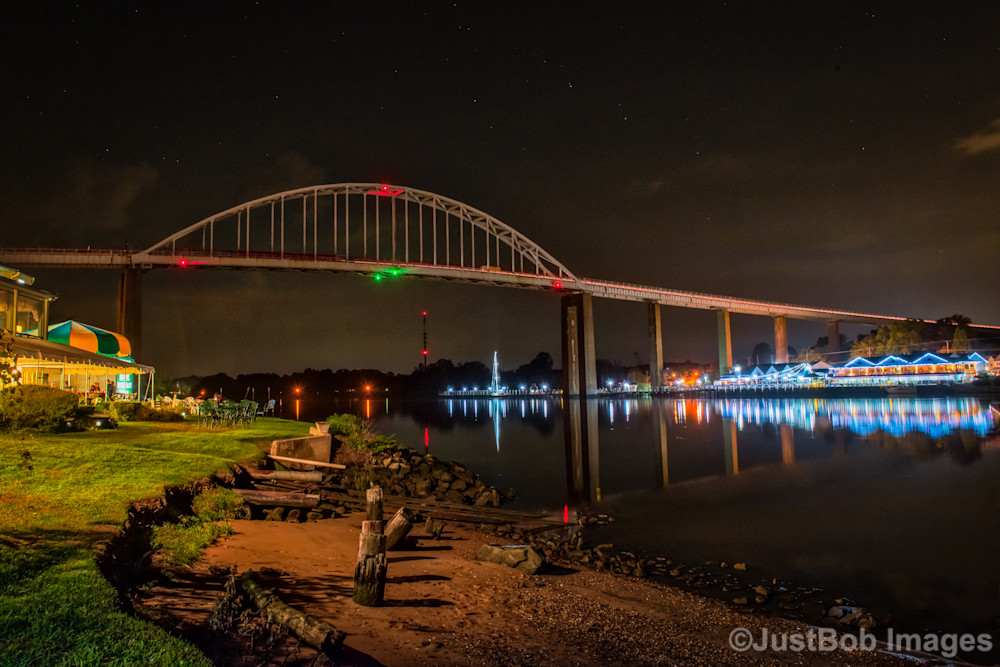 Chesapeake City at Night Fine Art Photograph | JustBob Images