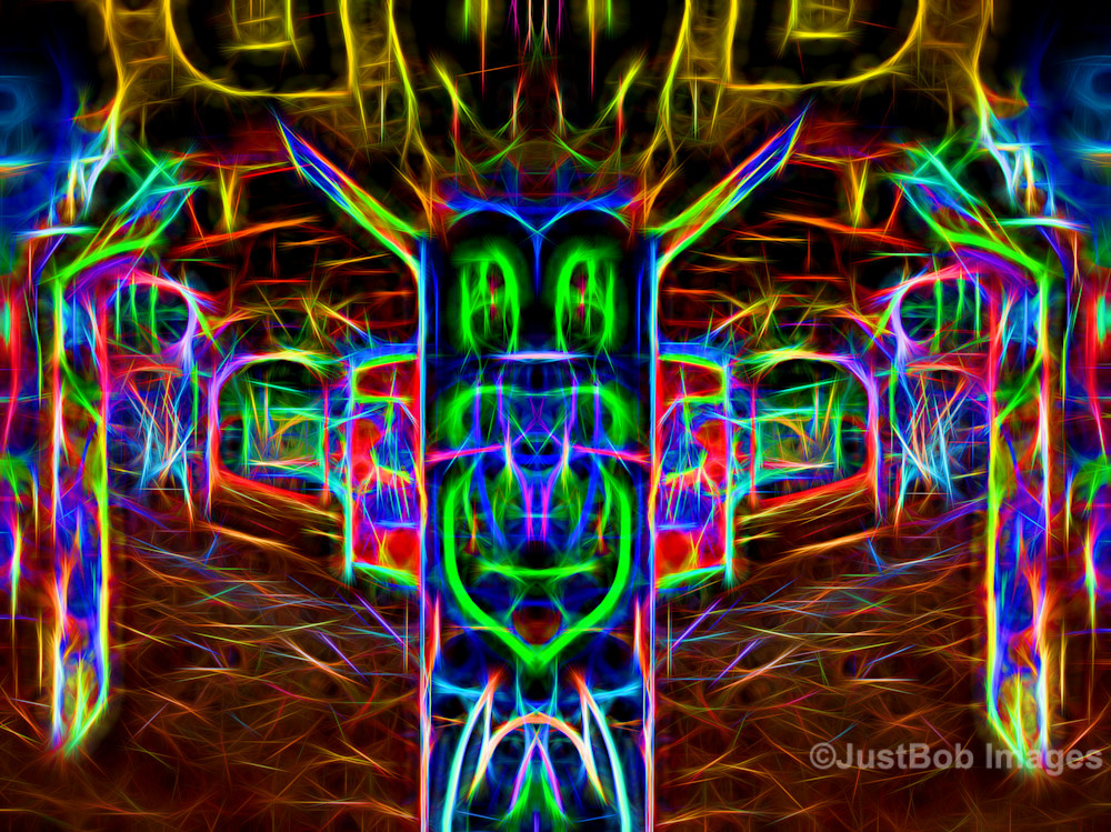 Glowing Graffiti (Mirror #15) Fine Art Photograph | JustBob Images