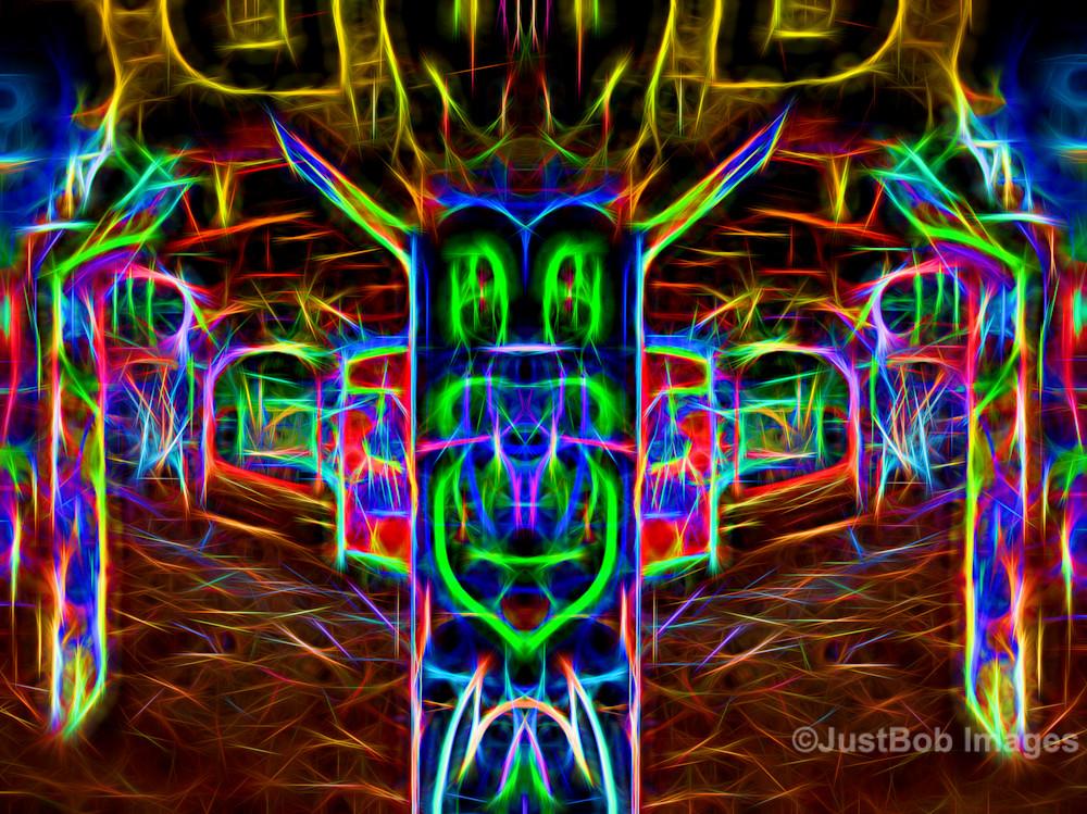 Glowing Graffiti (Mirror #15) Fine Art Photograph | JustBob Images