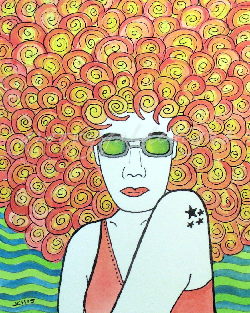Groovy Redhead Art for Sale
