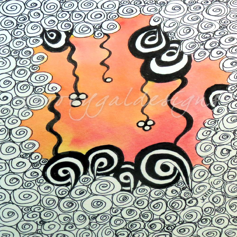 Doodle Square Art for Sale