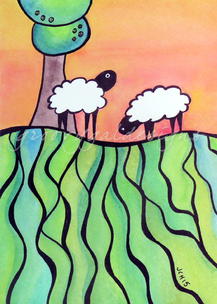 Sheep On A Hill 1 Art For Sale