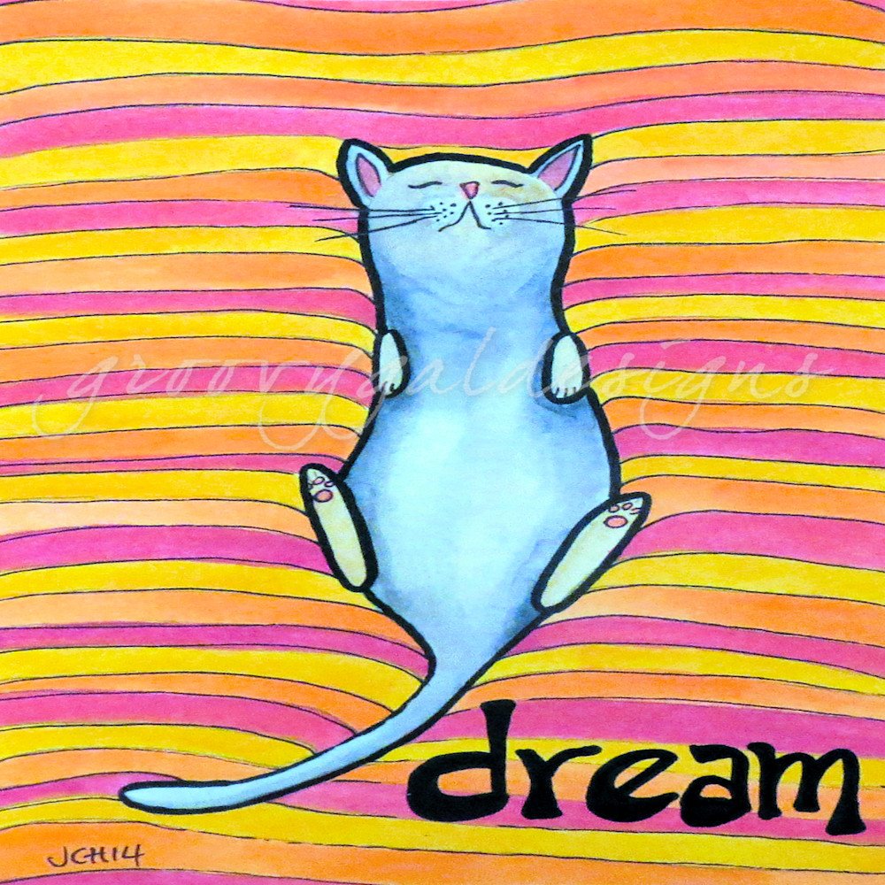 Dream Cat Art For Sale