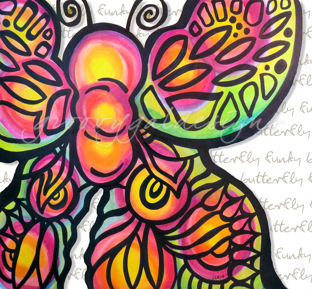 Funky Butterfly With Writing