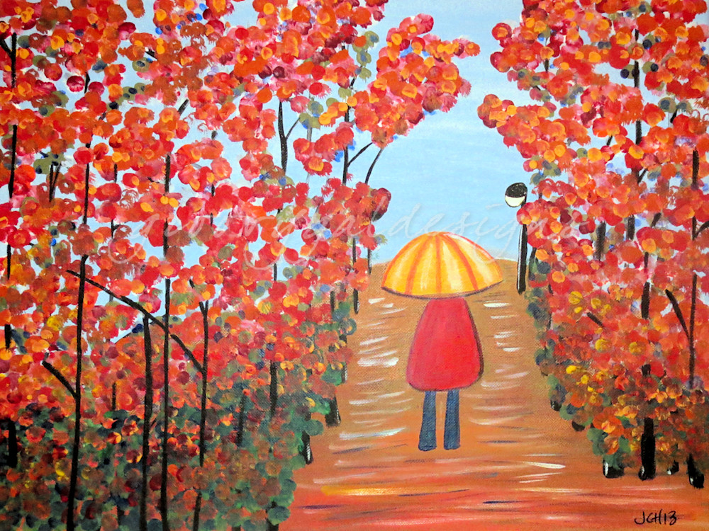 Girl In The Rain Art For Sale