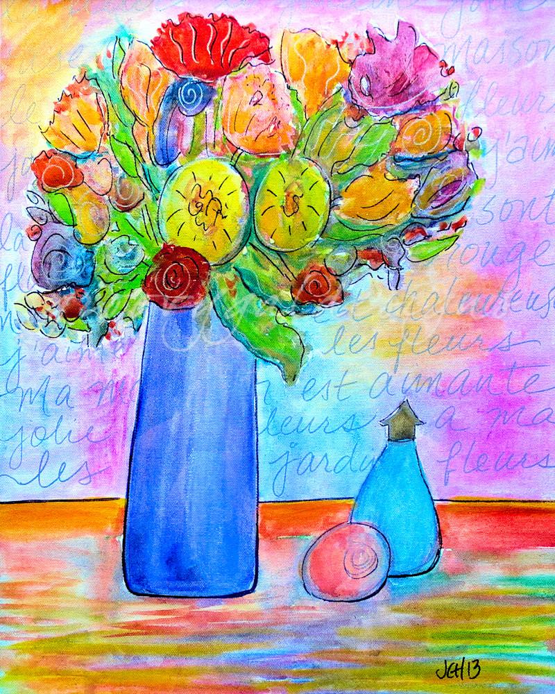 Les Fleurs Flower Art For Sale