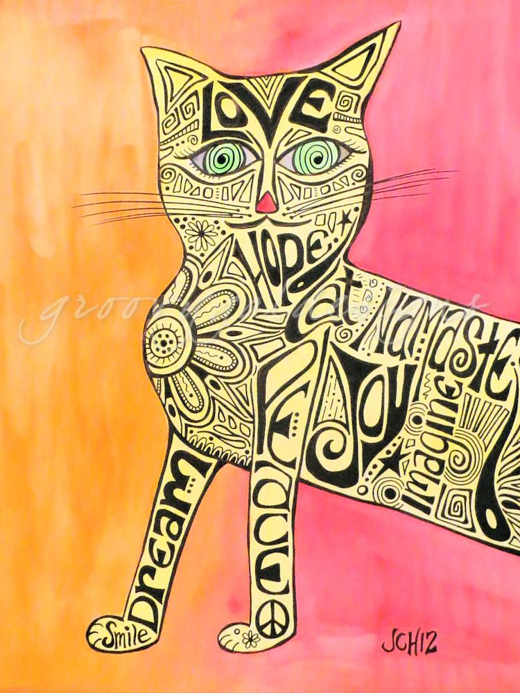 Marcia Marcia Marcia Brady Cat Art For Sale