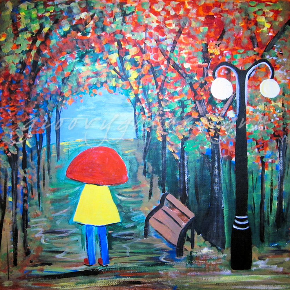 Girl In The Rain 2 Art For Sale