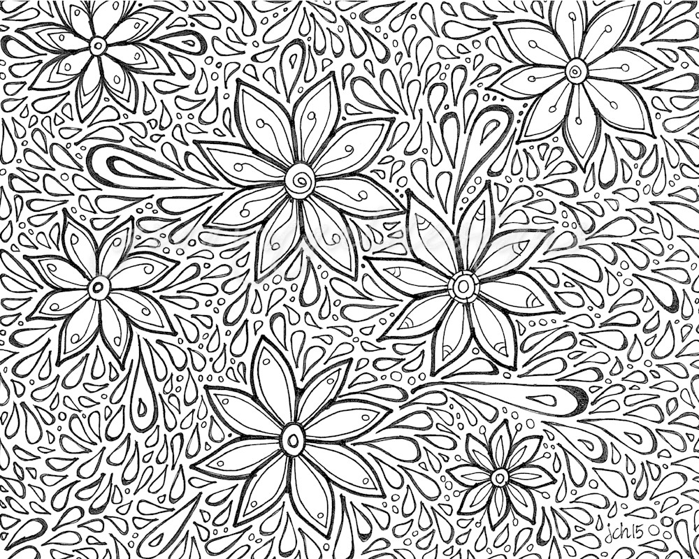 Flower Power Color It Art For Sale