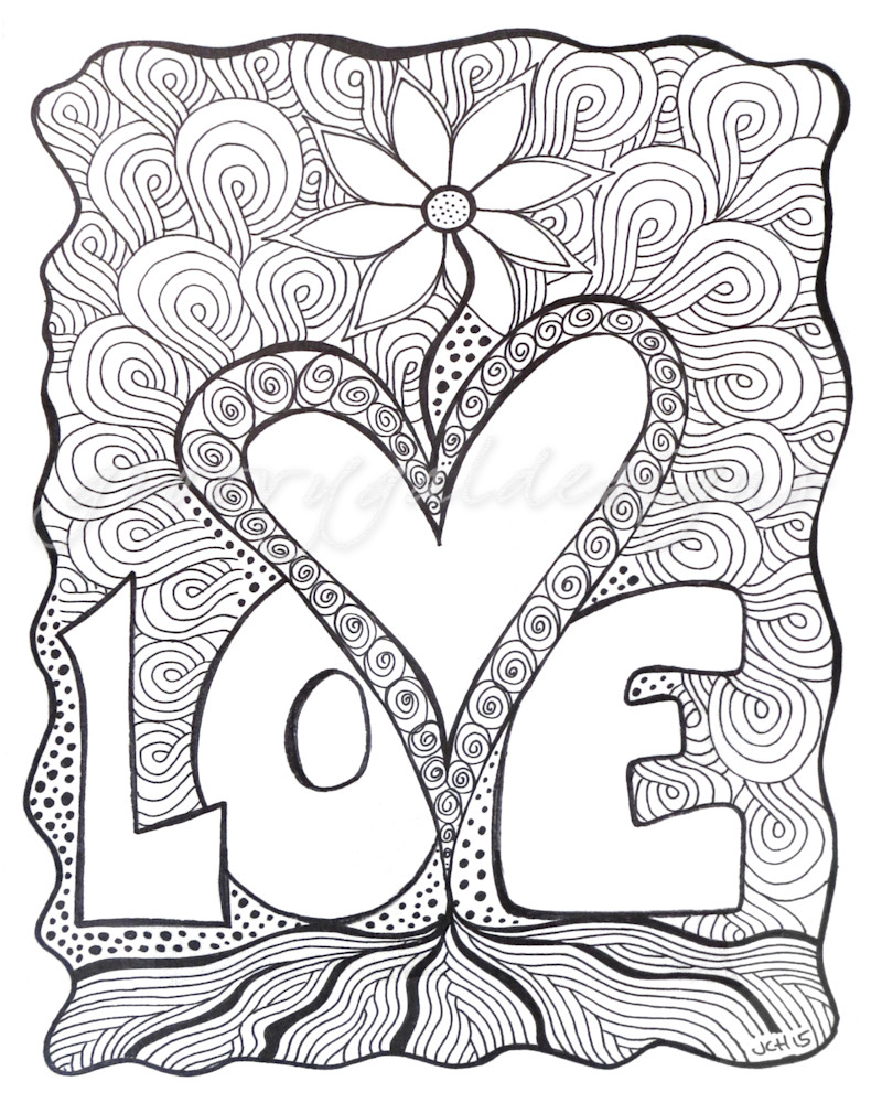 Love Flower Color It DIY Art For Sale