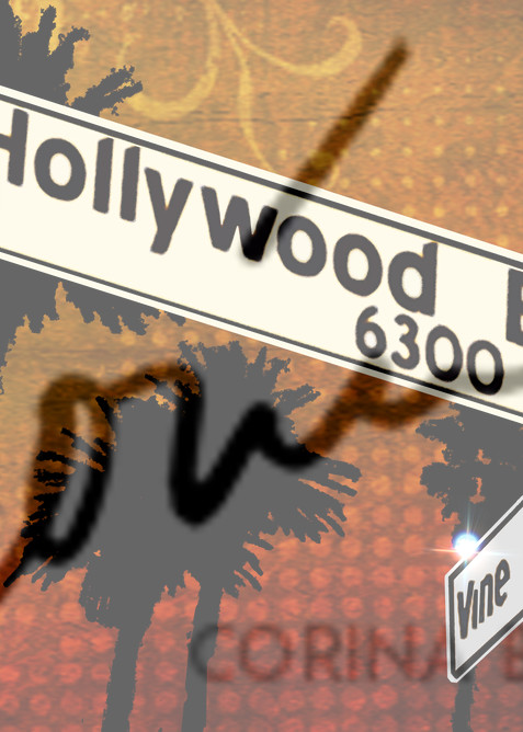 Pop Art sign of Hollywood and Vine