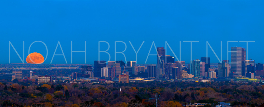 Denver Skyline - Photograph by Noah Bryant