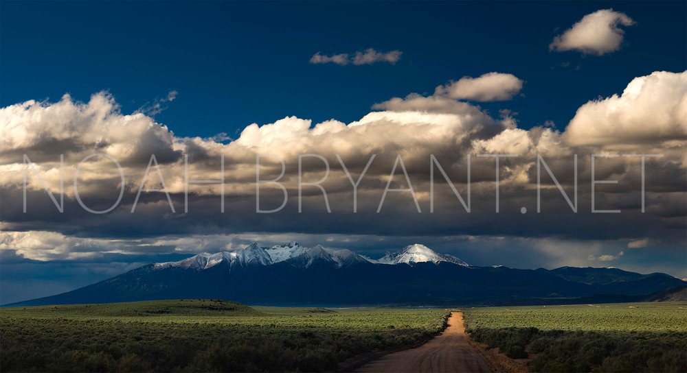 San Luis Valley and Mount Blanca - Photograph by Noah Bryant