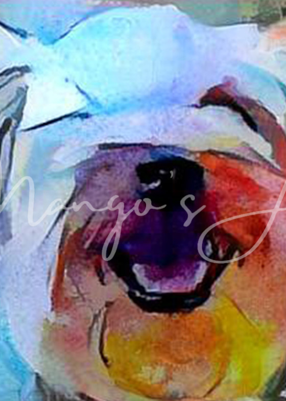 Yorkie Stained Glass 2