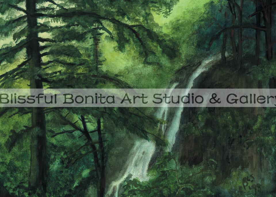 Waterfall: Luscious Limelight Art | Blissful Bonita Art Studio & Gallery