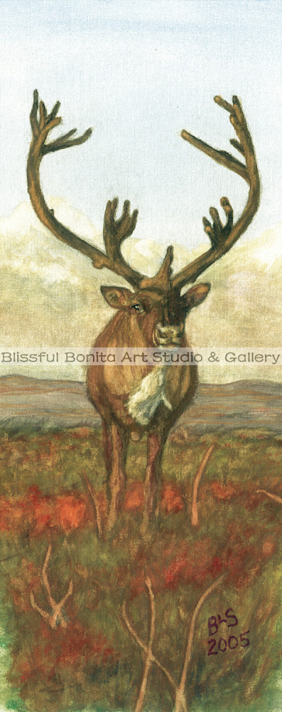 Caribou Standing Tall Art | Blissful Bonita Art Studio & Gallery