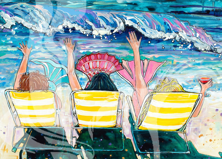 Mermaid Vacation Art | jenartworkgallery