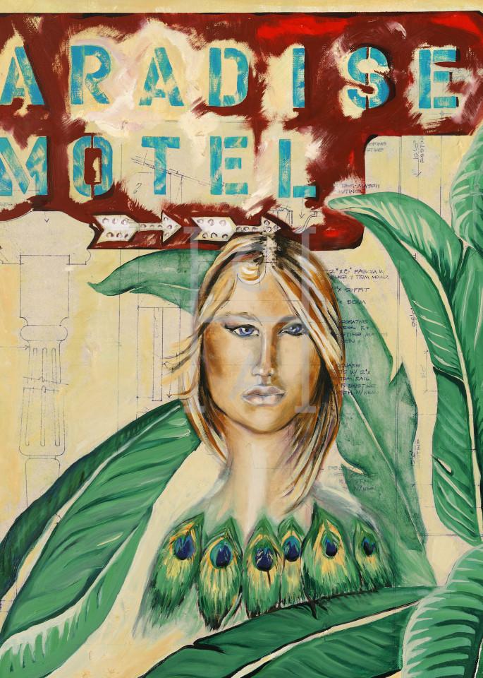 Paradise Motel' de Camille High Quality Giclee Print Art