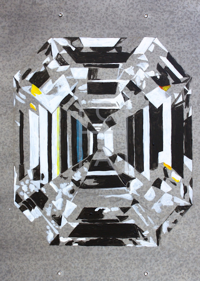 'Belenus' Asscher Cut Diamond Art | Cool Art House - online art gallery with hip emerging artists. Collect cool art you can view on your own wall before you invest!