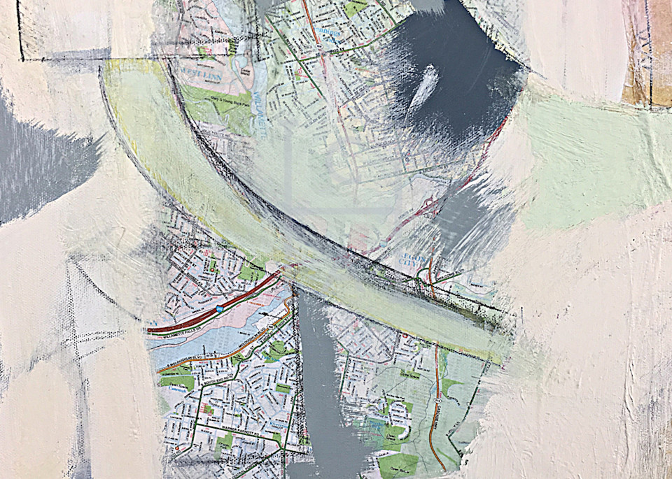 Housing Cycle in Portland Close-up 2 de Camille High Quality Giclee Print Art
