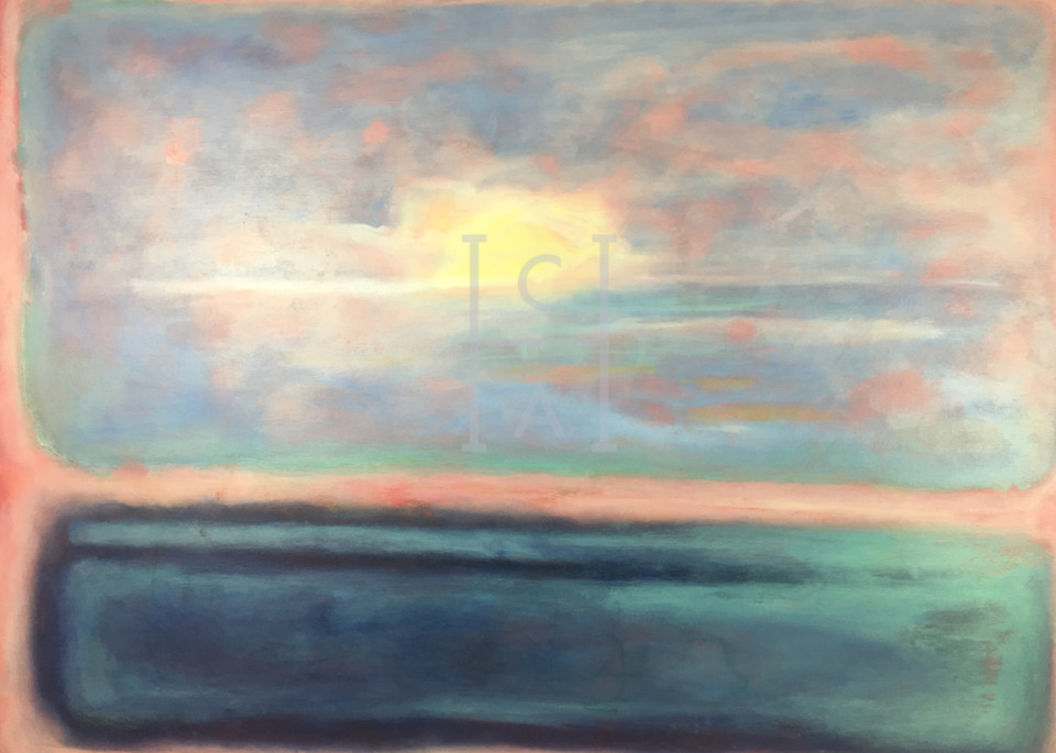 Sunset A LA Rothko de Camille. High Quality Giclee Print Art, Cool Art House