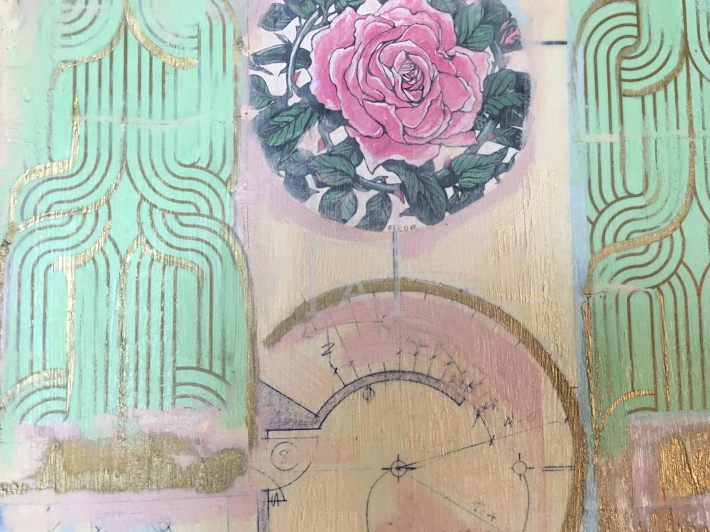Metropolitain, Paris Close-up Rose de Camille High Quality Giclee Print Art, Cool Art House