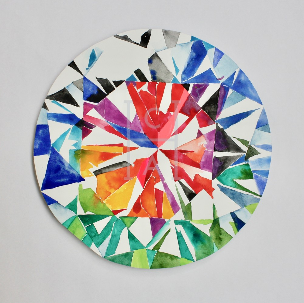 Kojin Brilliant Cut Diamond Art | Cool Art House - online art gallery with hip emerging artists. Collect cool art you can view on your own wall before you invest!