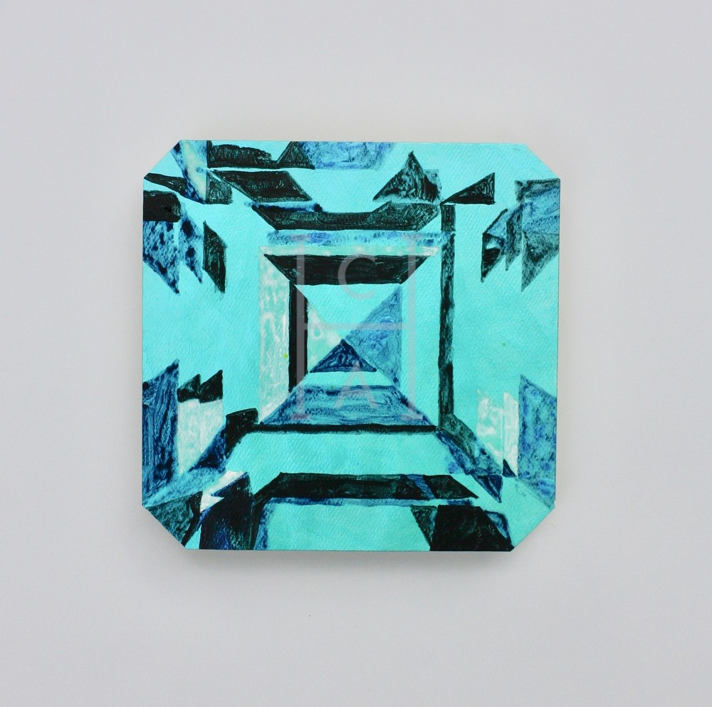 Kojin Asscher Cut Emerald Art | Cool Art House - online art gallery with hip emerging artists. Collect cool art you can view on your own wall before you invest!