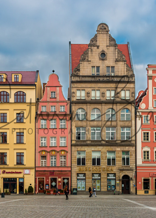 Market Square Row Houses and Shops: Wroclaw Poland