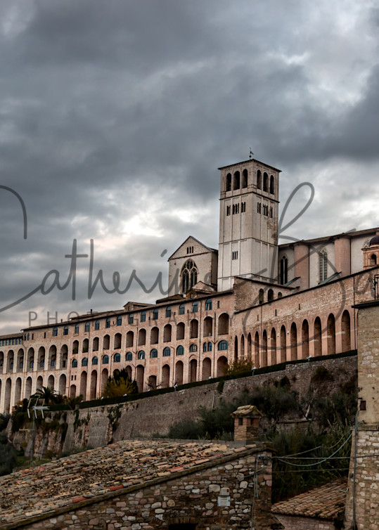 Stormy Skies over the Basilica of Saint Francis of Assisi