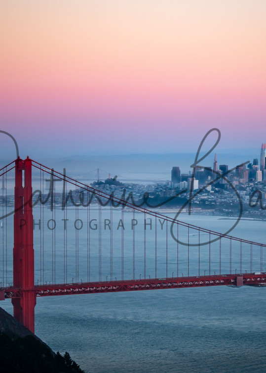 Dusk Over San Francisco and the Golden Gate Bridge