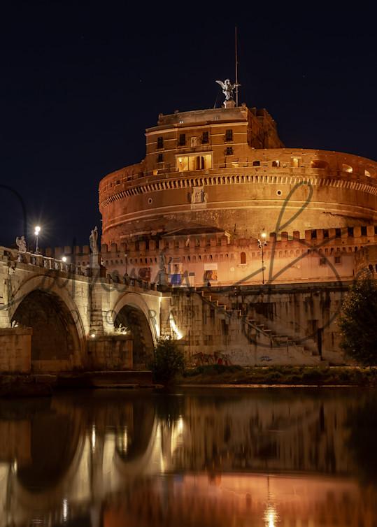 Castel Sant Angelo At Night Photography Art | Catherine Balck Photography