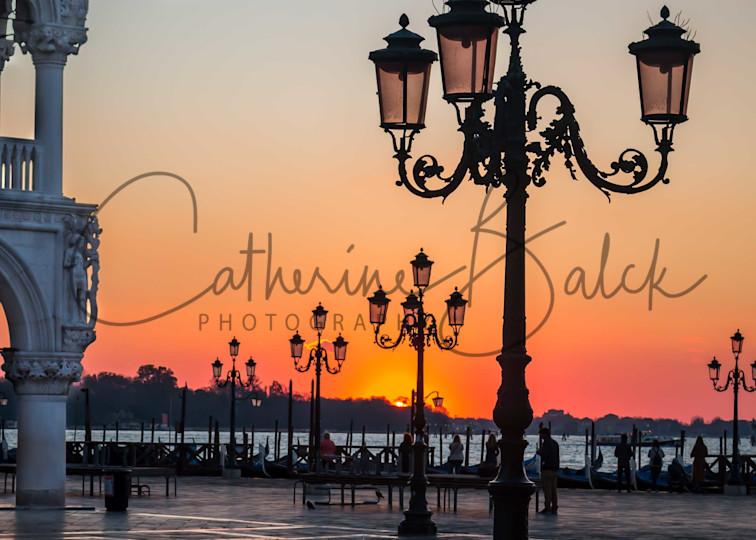 Sunrise In St Mark's Plaza   Venice, Italy Photography Art | Catherine Balck Photography
