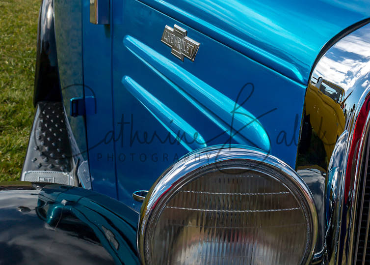 Shiny Old Blue Chevy Photography Art | Catherine Balck Photography