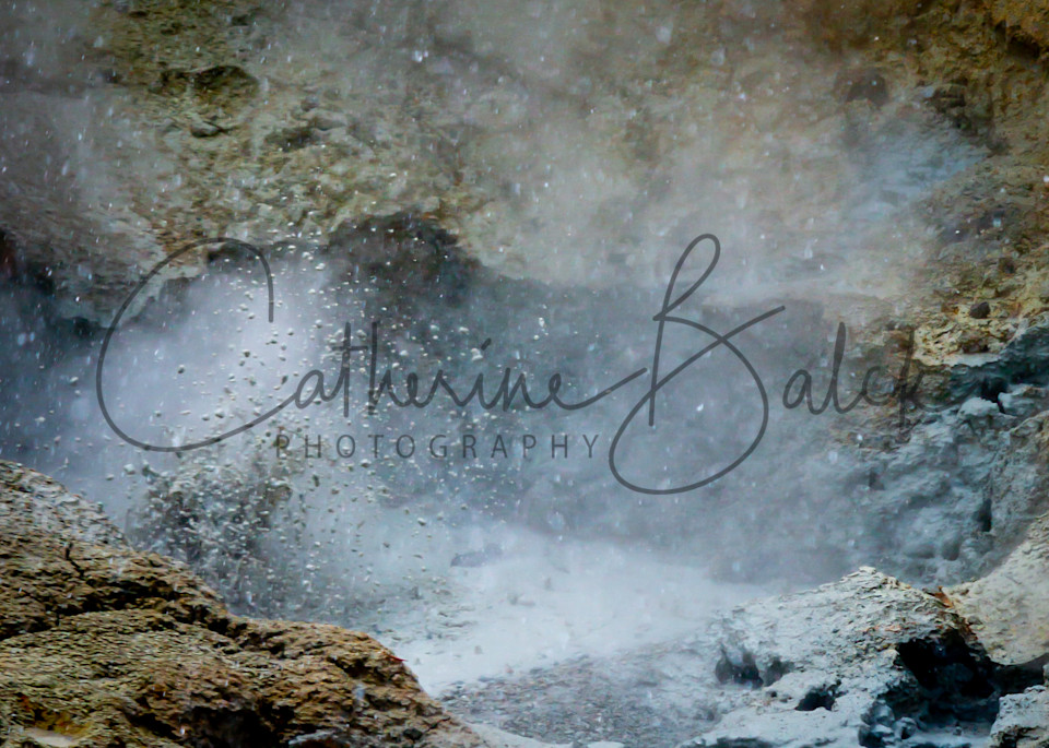 Thumping Hydro Thermal Mud Pot  Photography Art | Catherine Balck Photography