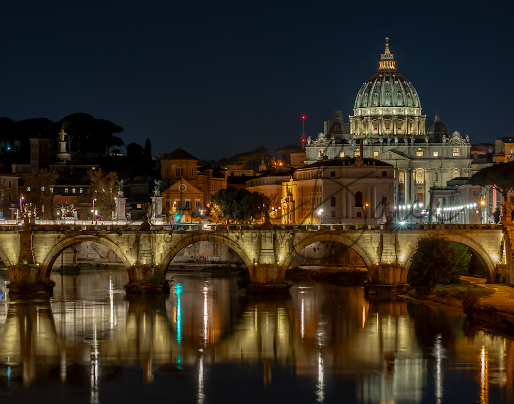 Serene: The Vatican and Tiber River at Night