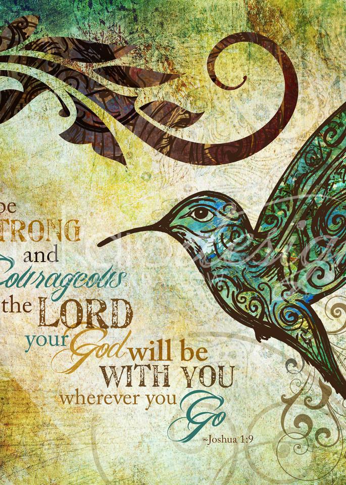 Be Strong Hummingbird Art   Sally Barlow, Makaio Design